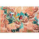 10527-2, павлопосадский платок из вискозы с подрубкой, фото 5