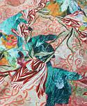10527-2, павлопосадский платок из вискозы с подрубкой, фото 6
