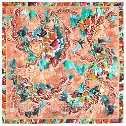 10527-2, павлопосадский платок из вискозы с подрубкой