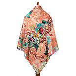 10527-2, павлопосадский платок из вискозы с подрубкой, фото 3