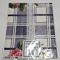 Клеенчатая скатерть ПВХ с каймой ,на кухонный стол 80х130см 210013