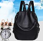 Рюкзак PU кожзам женский чёрный, фото 10