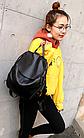 Рюкзак PU кожзам женский чёрный, фото 3