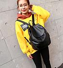 Рюкзак PU кожзам женский чёрный, фото 4