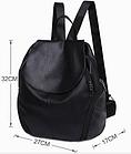 Рюкзак PU кожзам женский чёрный, фото 8