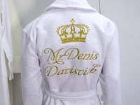 Халат с вышивкой имени (именной халат на заказ), фото 1