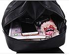 Рюкзак PU кожзам женский чёрный, фото 9
