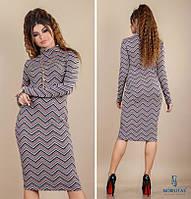 СТИЛЬНОЕ платье NOBILITAS 42 - 48 итальянский 3D трикотаж (арт. 18043/2)