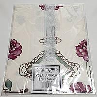 Клеенчатая скатерть ПВХ с каймой ,на кухонный стол 80х130см 210027