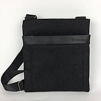 Сумка на плечо городская мужская черная модная от Кельвин Кляйн