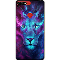 Чехол силиконовый бампер для Huawei Honor 7c Pro с рисунком Космический лев