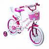 Велосипед двухколесный 16 TZ-003 розовый с корзинкойбагажником