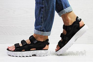 Женские сандалии  Fila, черные  Топ реплика ААА+  5301