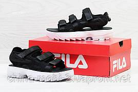 Женские сандалии  Fila, черные (Топ реплика ААА+) 5301, фото 3