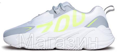 Мужские кроссовки adidas Yeezy Boost 700 VX White / Grey Адидас Изи Буст 700 белые с серым, фото 2
