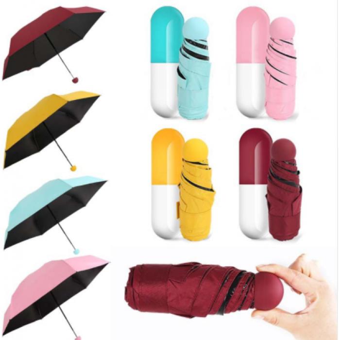 Механический складной мини зонт в футляре Капсула Сapsule ambrella mini