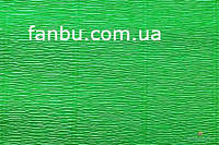 Креп бумага ярко-зеленый №563