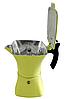 Гейзерна кавоварка Moka Crem жовта, 150мл., на 3 чашки (853), фото 3