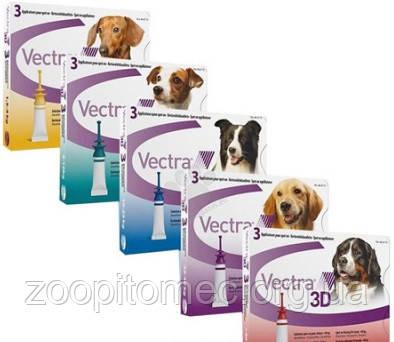 Капли от блох и клещей Ceva VECTRA 3D (Сева ВЕКТРА) для собак 4-10 кг (1 пипетка)