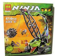 Конструктор Нинзяго NINJA 9761 Кран-разрушитель, 415 деталей, фото 1