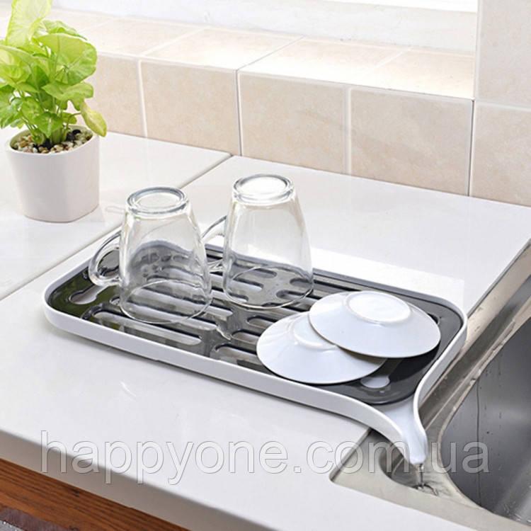 Сушка для посуду зі зливним носиком (біла)