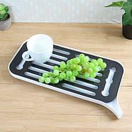 Сушка для посуду зі зливним носиком (біла), фото 3