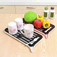 Сушка для посуду зі зливним носиком (біла), фото 4