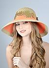 Шляпа с большими полями оранжевая, фото 3