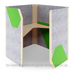 Кабина Cobi фетр серый /фетр зеленый черный графит