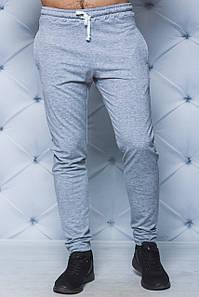 Мужские спортивные штаны светло-серые