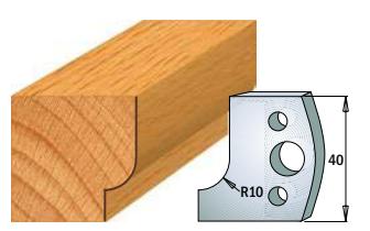 Профильные ножи (пара) 690.013 40x4 SP, фото 2