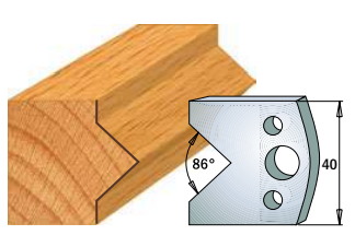 Профильные ножи (пара) 690.034 40x4 SP