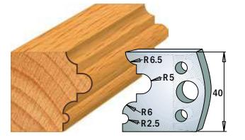 Профильные ножи (пара) 690.036 40x4 SP, фото 2