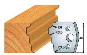 Профильные ножи (пара) 690.039 40x4 SP, фото 2
