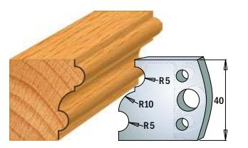 Профильные ножи (пара) 690.052 40x4 SP, фото 2