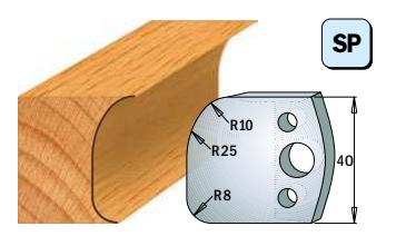 Профильные ножи (пара) 690.062 40x4 SP, фото 2