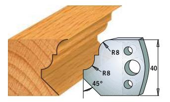Профильные ножи (пара) 690.073 40x4 SP, фото 2