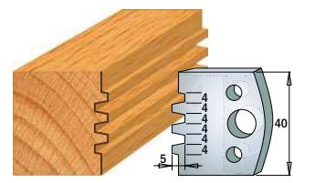Профильные ножи (пара) 690.076 40x4 SP, фото 2