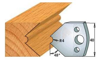 Профильные ножи (пара) 690.080 40x4 SP, фото 2