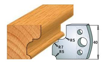 Профильные ножи (пара) 690.082 40x4 SP