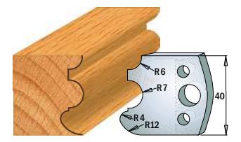Профильные ножи (пара) 690.088 40x4 SP, фото 2