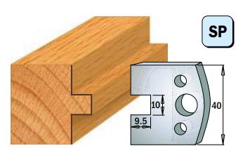 Профильные ножи (пара) 690.092 40x4 SP, фото 2