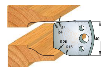 Профильные ножи (пара) 690.100 40x4 SP, фото 2