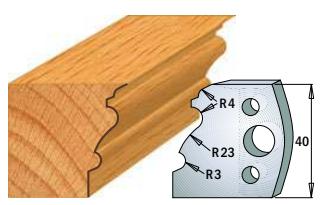 Профильные ножи (пара) 690.103 40x4 SP, фото 2