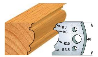Профильные ножи (пара) 690.104 40x4 SP, фото 2