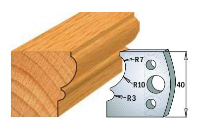 Профильные ножи (пара) 690.105 40x4 SP, фото 2