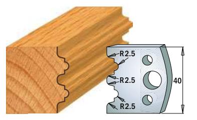 Профильные ножи (пара) 690.108 40x4 SP, фото 2