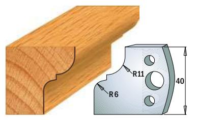 Профильные ножи (пара) 690.112 40x4 SP