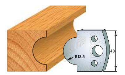 Профильные ножи (пара) 690.118 40x4 SP, фото 2
