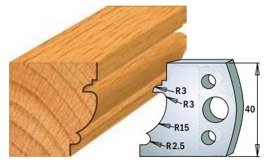 Профильные ножи (пара) 690.121 40x4 SP, фото 2